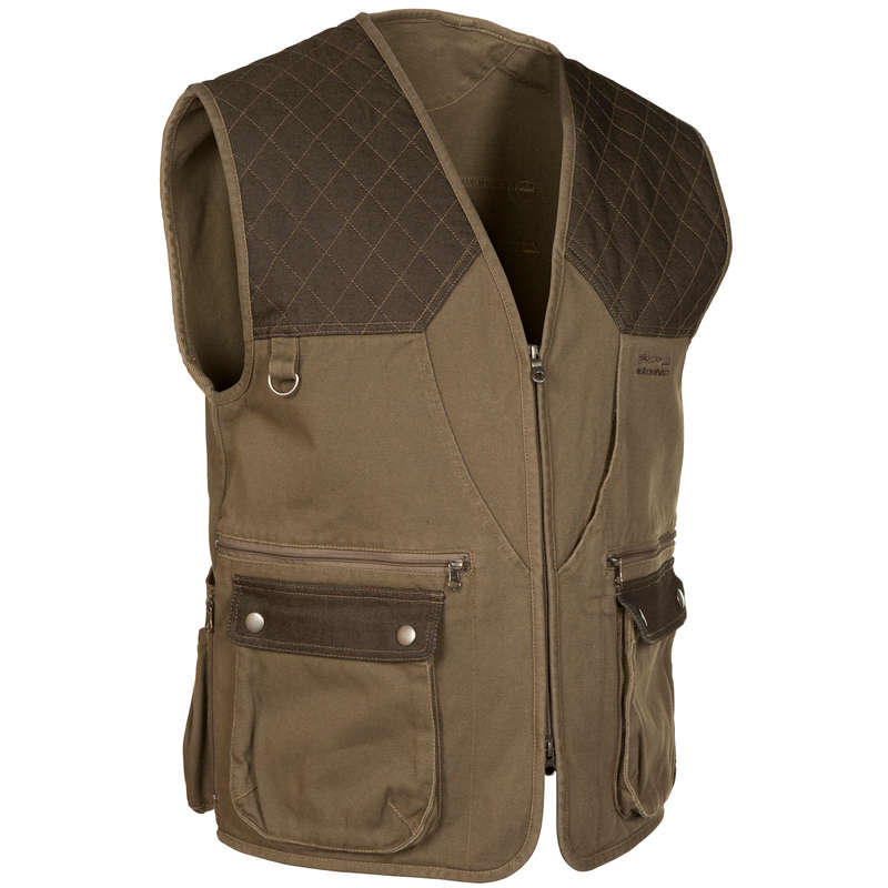 REINFORCED CLOTHING Shooting and Hunting - Steppe 500 Gilet SOLOGNAC - Hunting and Shooting Clothing