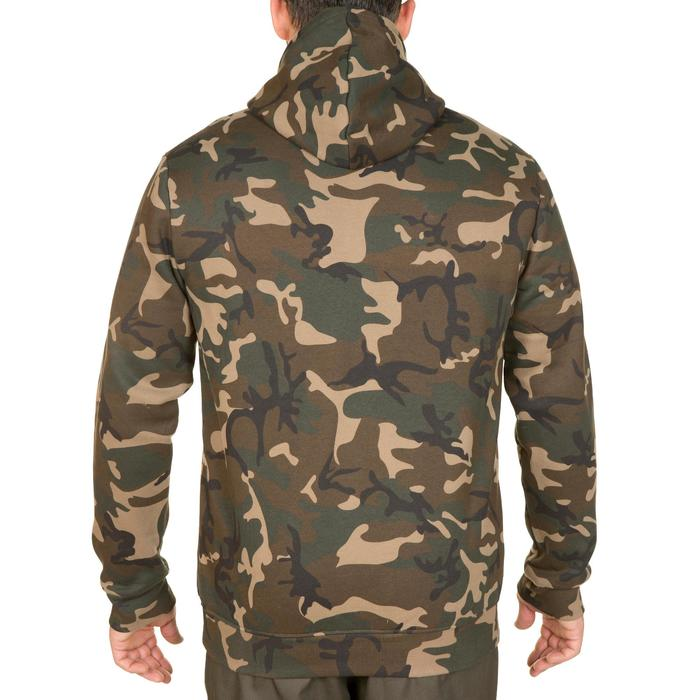 Sweat chasse avec zip 300 camouflage Woodland vert