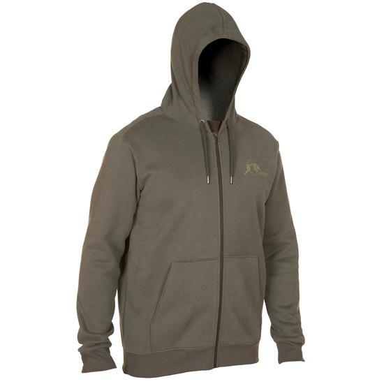 Sweater met rits Taïga 300 camouflage Wood Land - 282925