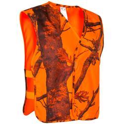 Peto Caza Solognac Kamo-Bl Camuflaje Naranja Fluo