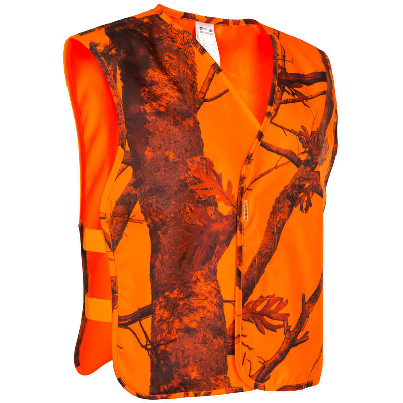 HIGH VIS DRIVEN/TRACK CLOTHING - SLEEVELESS HUNTING VEST HIGH VISIBILITY SOLOGNAC