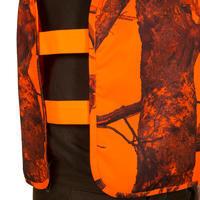 Camouflage hunting bib - blaze