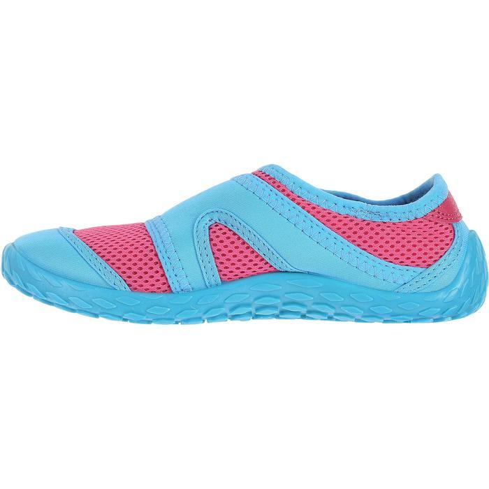 Chaussures aquatiques Aquashoes 100 noires turquoises - 28301