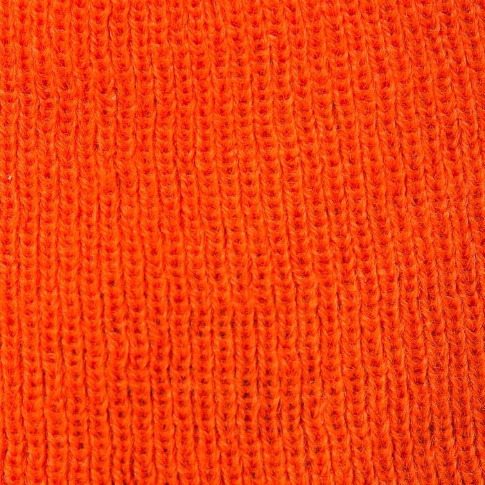 Gorro Caza Solognac Taiga 300 Lana Reversible Naranja Fluo Verde