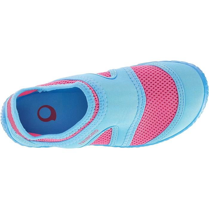Chaussures aquatiques Aquashoes 100 noires turquoises - 28303