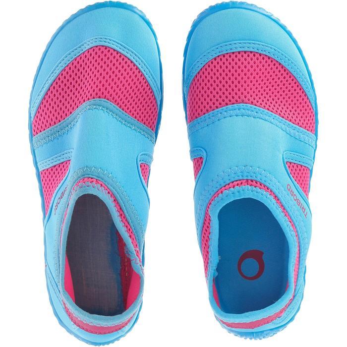 Chaussures aquatiques Aquashoes 100 noires turquoises - 28304
