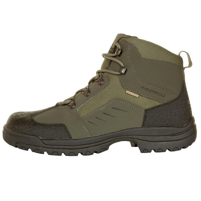 Chaussure chasse land 100 imperméable vert - 283060