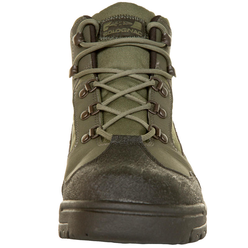 100 waterproof hunting boots green