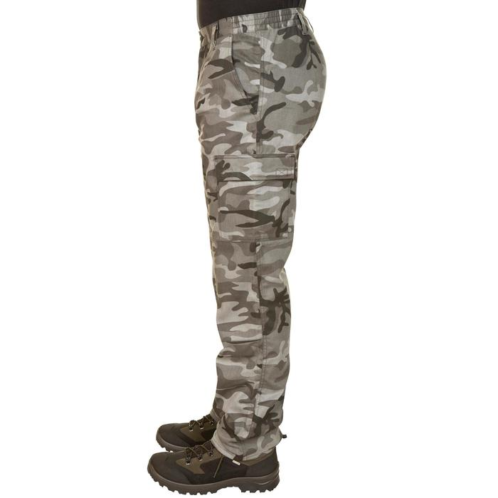 Pantalón Caza Solognac Steppe 300 Camuflaje Militar Woodland Negro