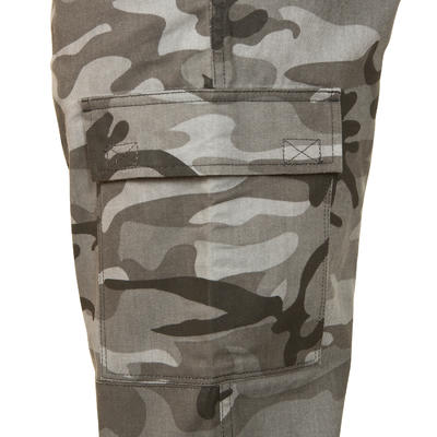 Hunting Trousers Steppe 300 Woodland Black