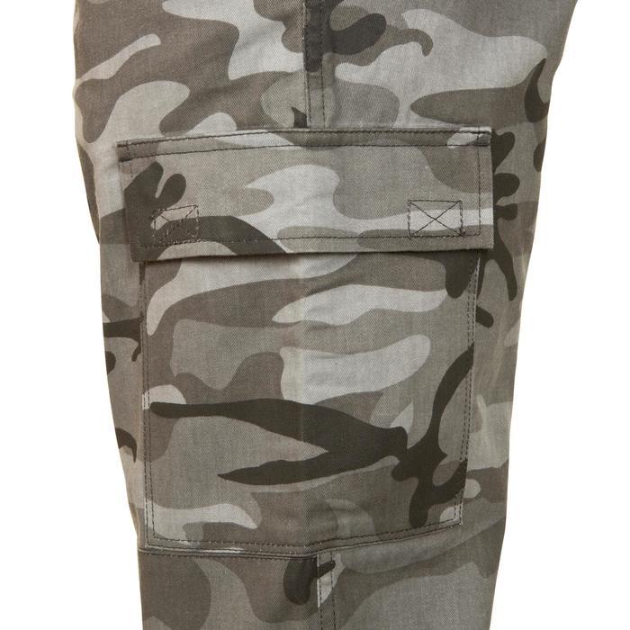 Jagdhose Steppe 300 Woodland camouflage schwarz