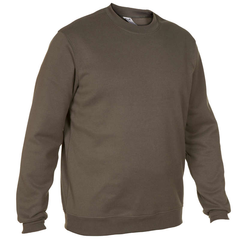 SWEATERS Shooting and Hunting - Pullover 100 - Green SOLOGNAC - Hunting and Shooting Clothing