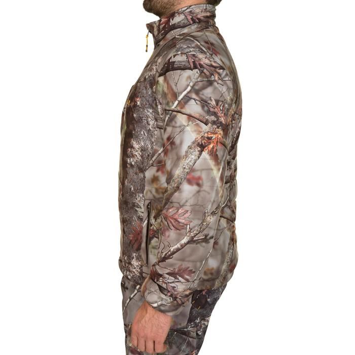 DOUDOUNE CHASSE SILENCIEUSE CHAUDE 500 CAMOUFLAGE FORET