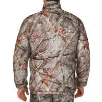 DOWN HUNTING JACKET SILENT WARM 500 FOREST CAMOUFLAGE