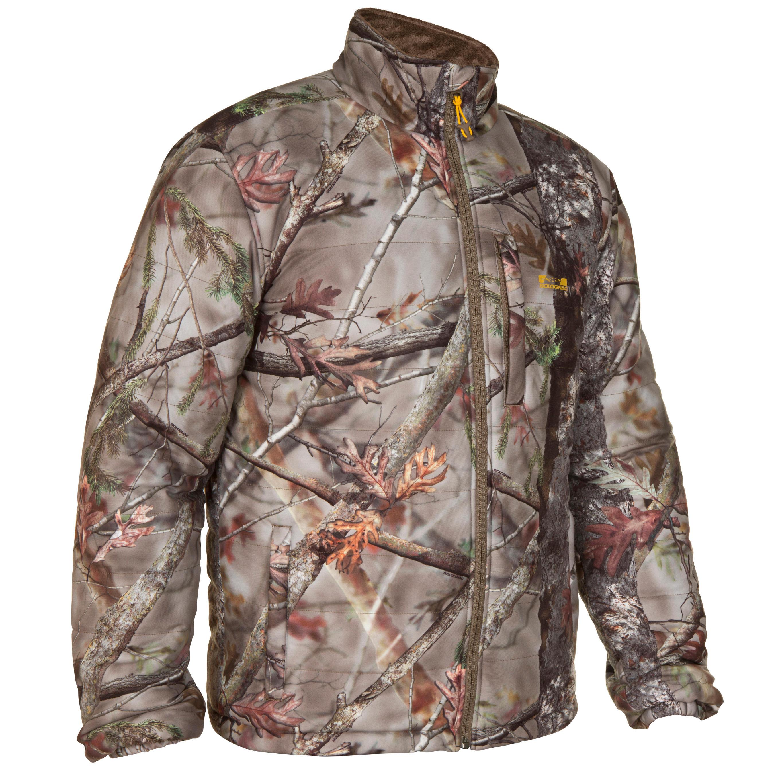 Solognac Geluidloze jagersjas Actikam 500 camouflage bruin