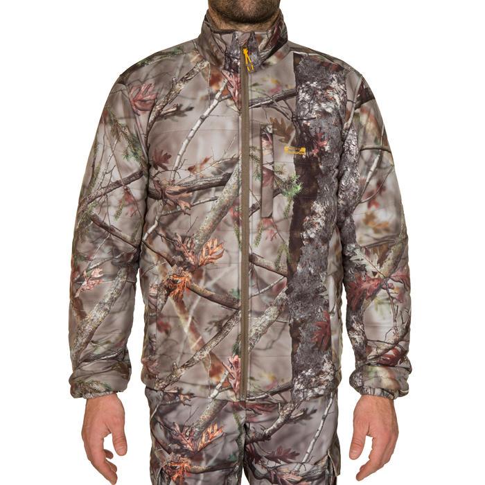 Jagdjacke Actikam 500 geräuscharm Camouflage braun