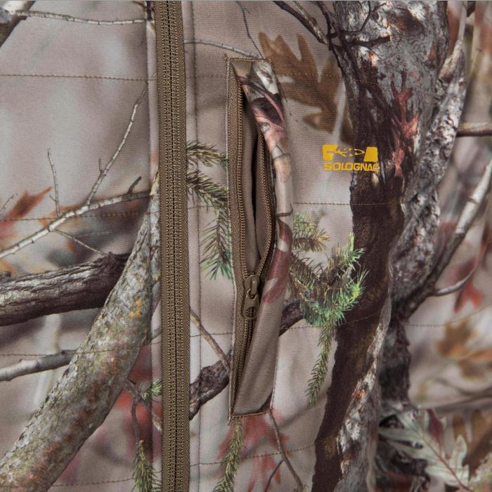 Veste chasse silencieuse Actikam 500 camouflage marron - 283228