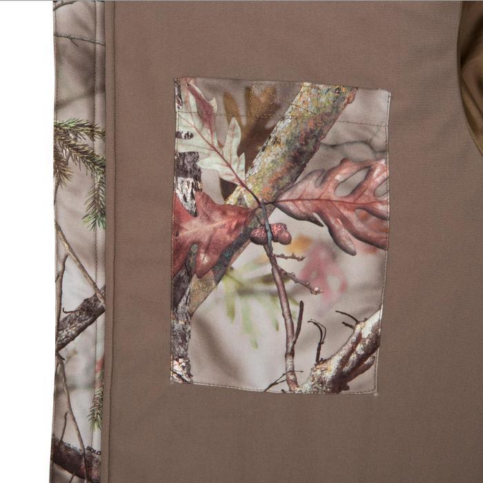 Veste chasse silencieuse Actikam 500 camouflage marron - 283229