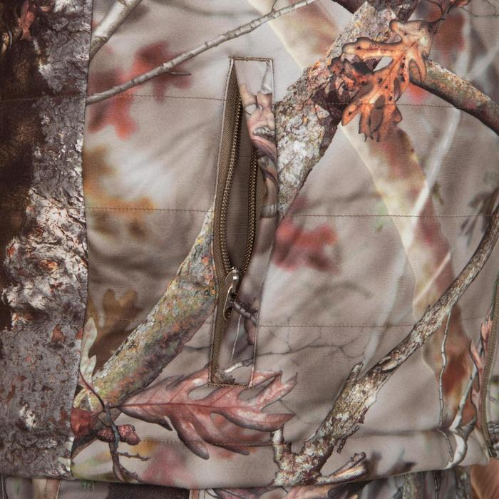 Veste chasse silencieuse Actikam 500 camouflage marron - 283239