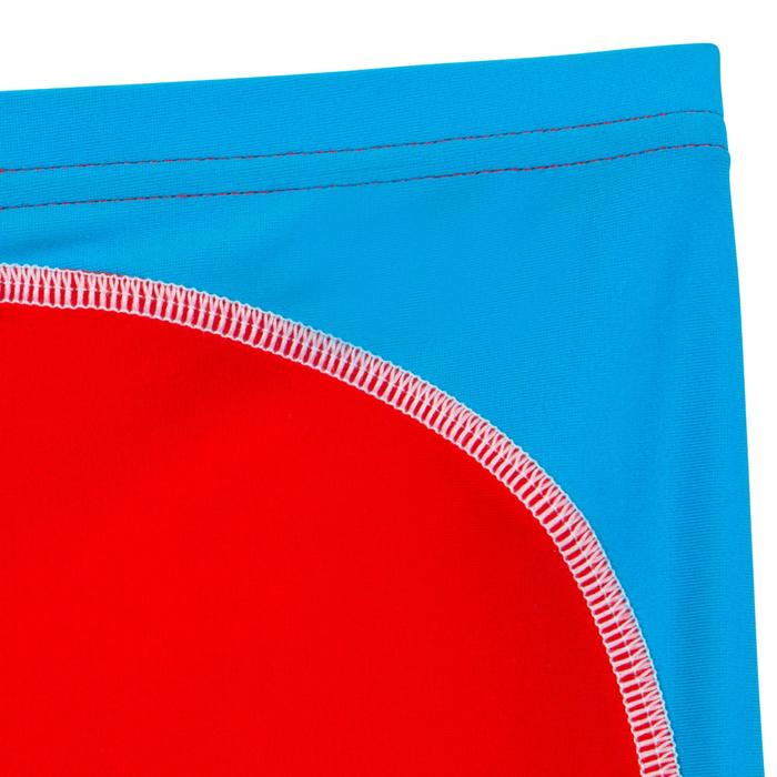 Maillot de bain boxer bébé garçon rouge et bleu avec empiècement