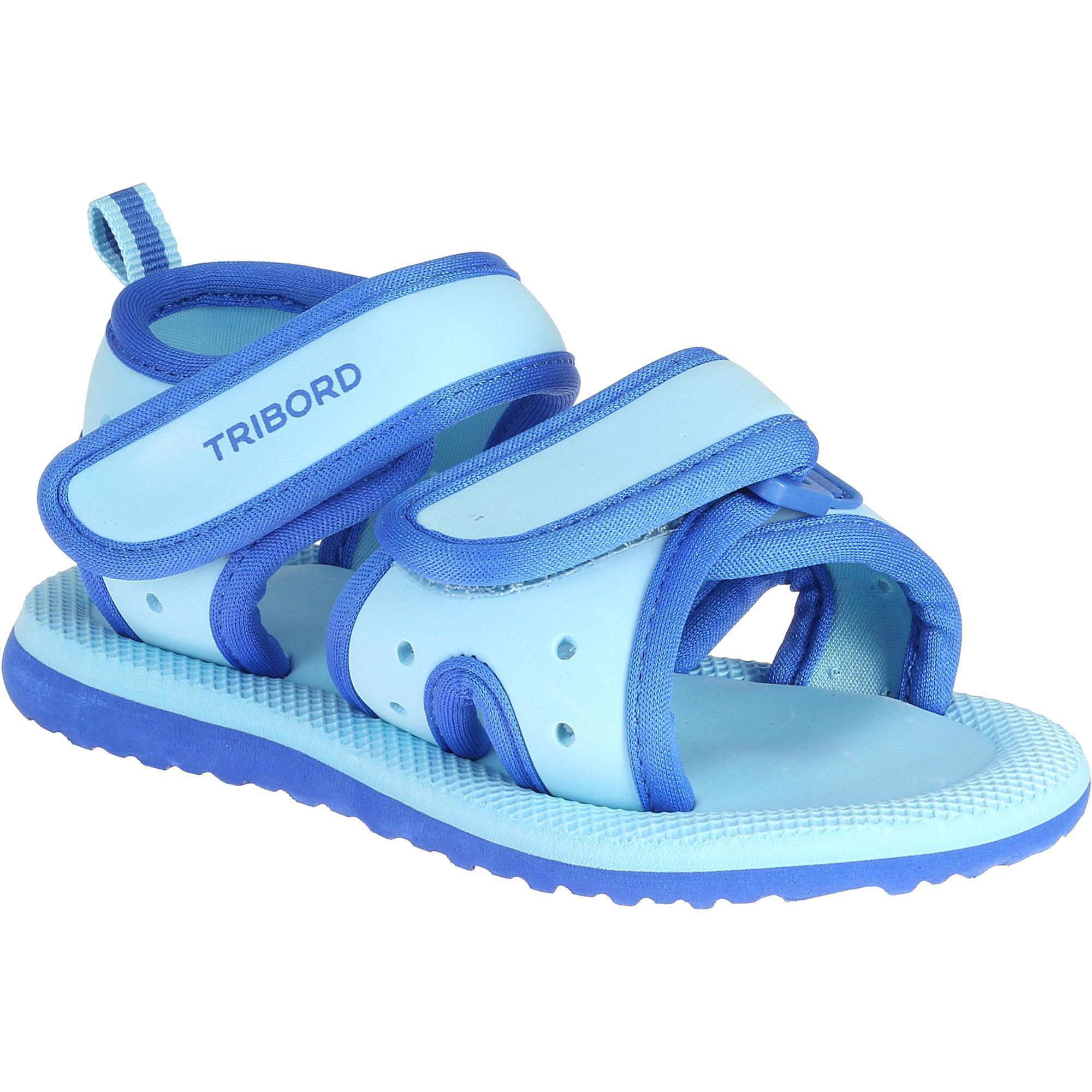 Sandales natation picola bebe bleu nabaiji for Protege oreille piscine decathlon