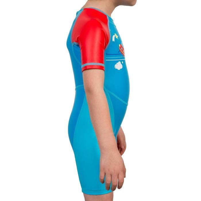 SHORTY de bain garçon KLOUPI SCOUP bleu rouge - 285629