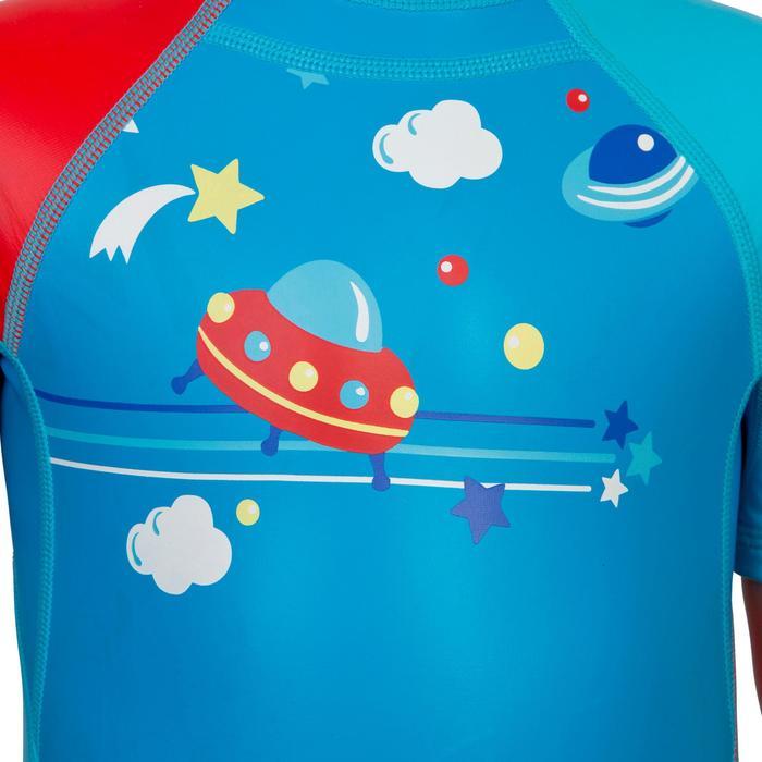 SHORTY de bain garçon KLOUPI SCOUP bleu rouge - 285630
