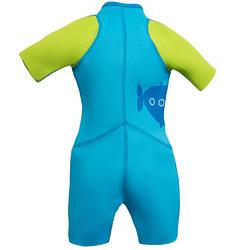 Kindershorty 100 voor snorkelen blauw/groen - 285807