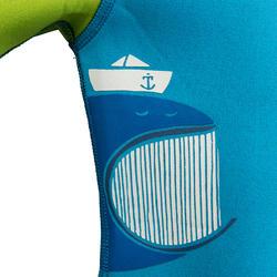 Kindershorty 100 voor snorkelen blauw/groen - 285823