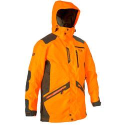 Stevige en waterdichte jas voor de jacht Supertrack 900 fluo-oranje