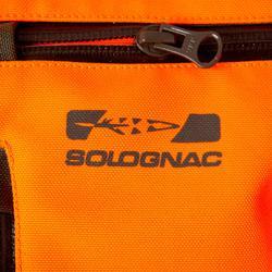 Chaqueta Caza Solognac Supertrack Naranja Fluo Reforzada Impermeable
