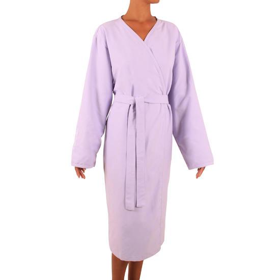 Lichte microvezel badjas volwassenen zonder kap of zakken - 286250