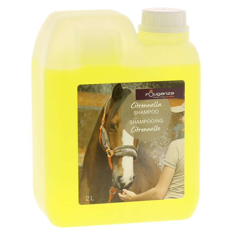 Pferdepflege, Sprays Reitsport - Pferde-Shampoo Zitronenöl 2l FOUGANZA - Pferdezubehör