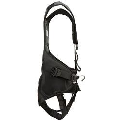 Trapezegordel voor zeilen volwassenen zwart/grijs - 287761