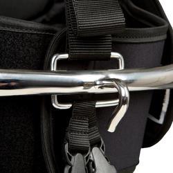Trapezegordel voor zeilen volwassenen zwart/grijs - 287764