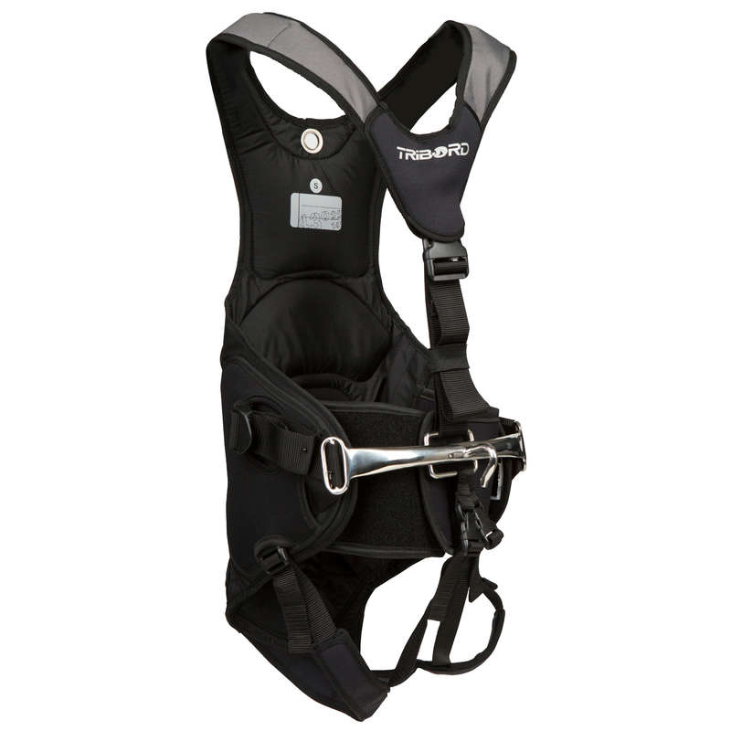 BUOYANCY AID, HARNESS & ACCESORIES Dinghy Sailing - 500 Trapeze Belt - Black TRIBORD - Dinghy Sailing