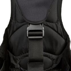 Trapezegordel voor zeilen volwassenen zwart/grijs - 287767