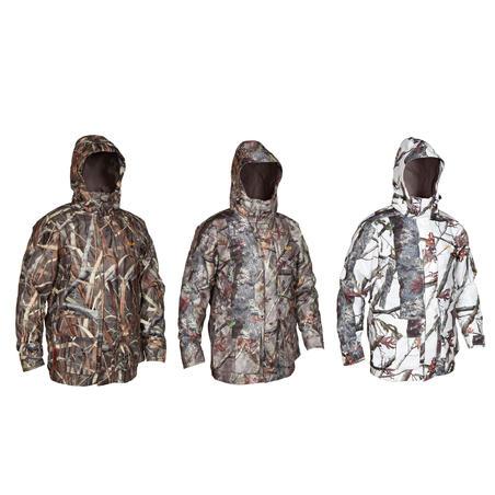 300 3-in-1 Warm Waterproof Hunting Parka - Snow Camo