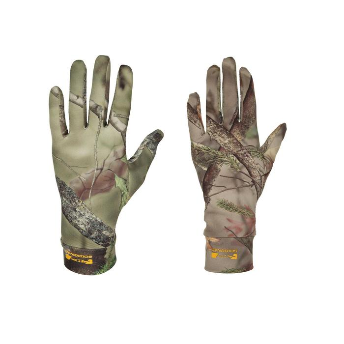 GANTS CHASSE ACTIKAM 100 ULTRA-LEGERS CAMOUFLAGE MARRON