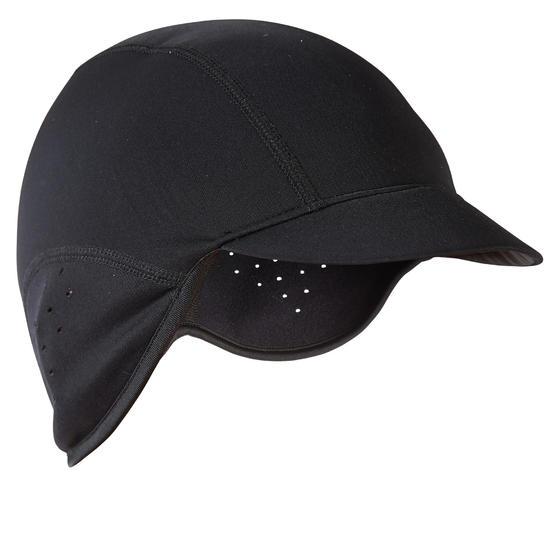 Fietshelmmuts 700 winddicht zwart - 289362