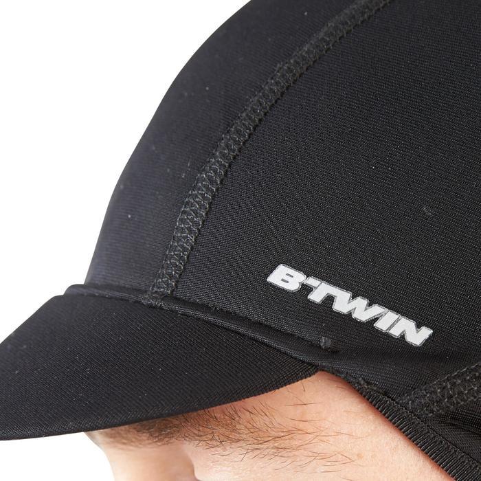Fahrrad-Mütze 700 winddicht schwarz