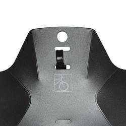 Flash Front Mountain Bike Mudguard - Black