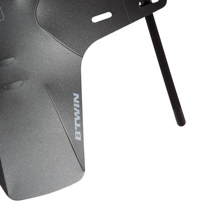 Front Mountain Bike Mudguard Flash - Black