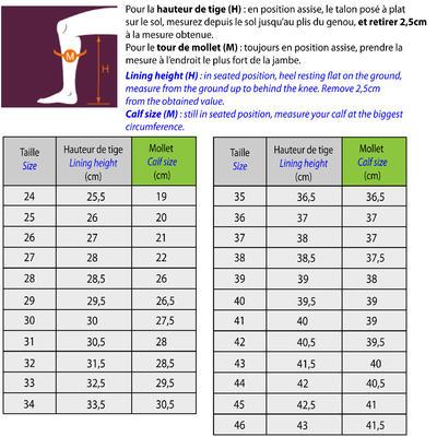 Botas equitación adulto SCHOOLING negro - tallas 35 a 44