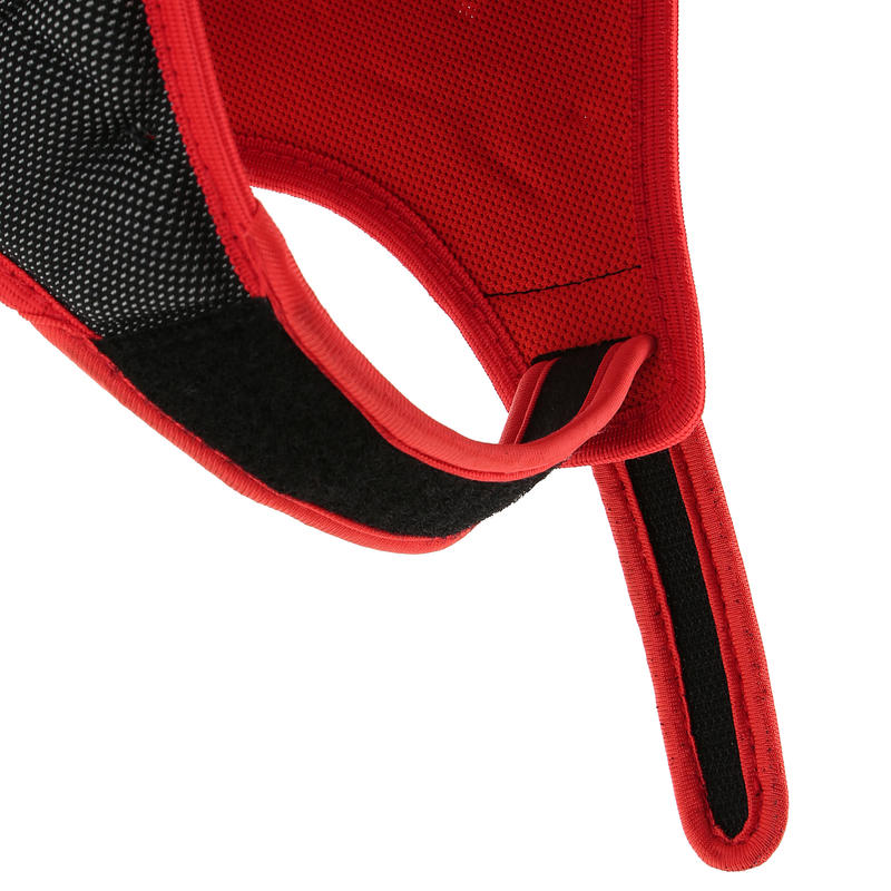 Full H 700 Adult Scrum Cap - Black Red