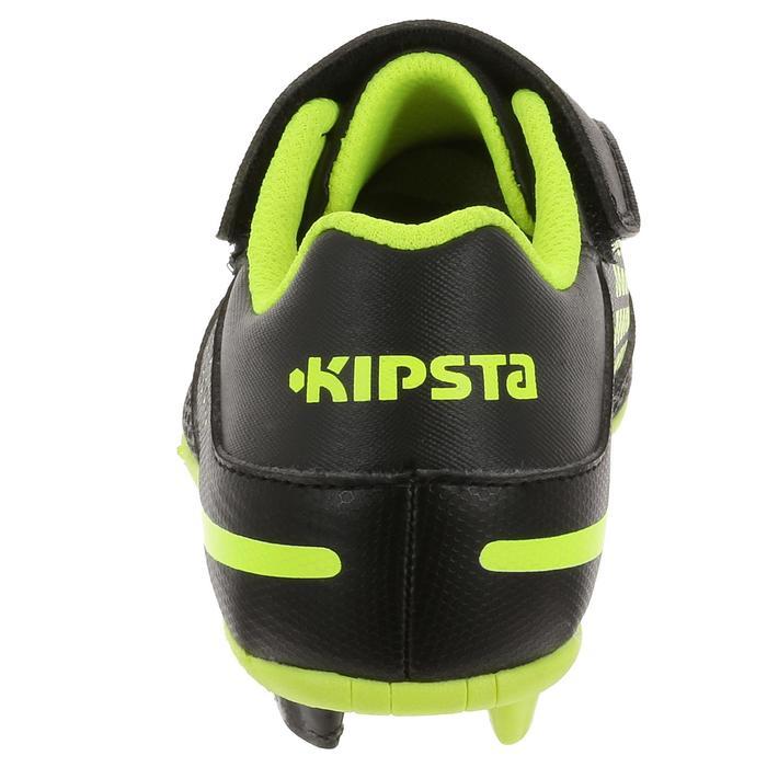 Chaussure de rugby junior skill R100 FG moulée jaune noir