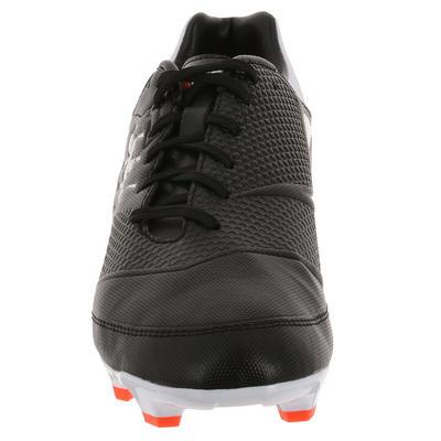 נעלי רוגבי Skill 500 FG Junior - שחורות לבנות
