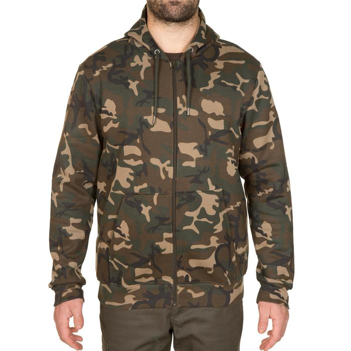 Sweat chasse avec zip 300 camouflage Woodland - 291680