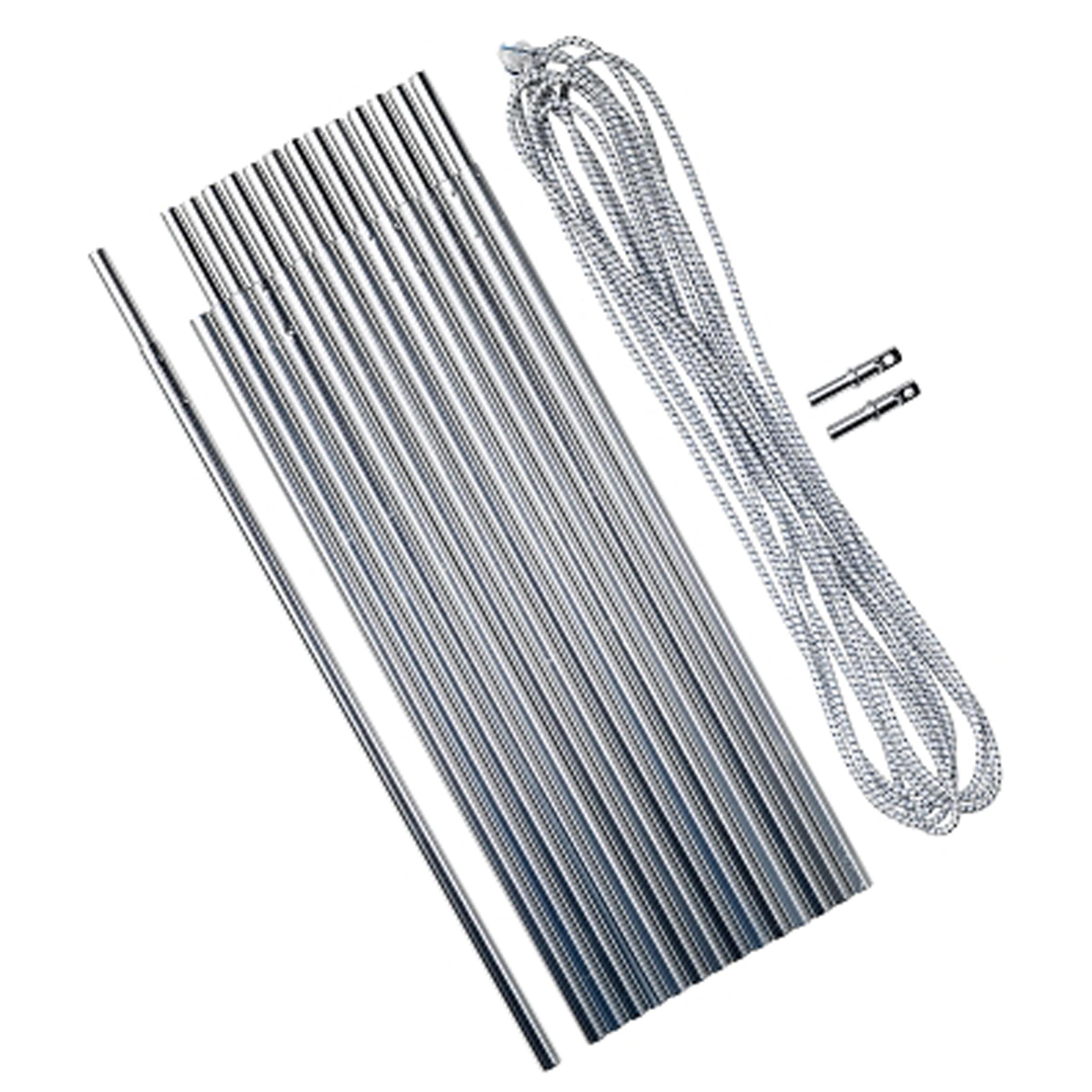 Kit de varillas de aluminio de 4.5 metros y Ø 8.5 mm; junquillos de 30 cm.
