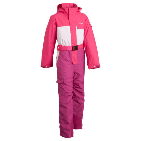 Wed'ze Evoslide Girls' Ski Suit - Pink / White